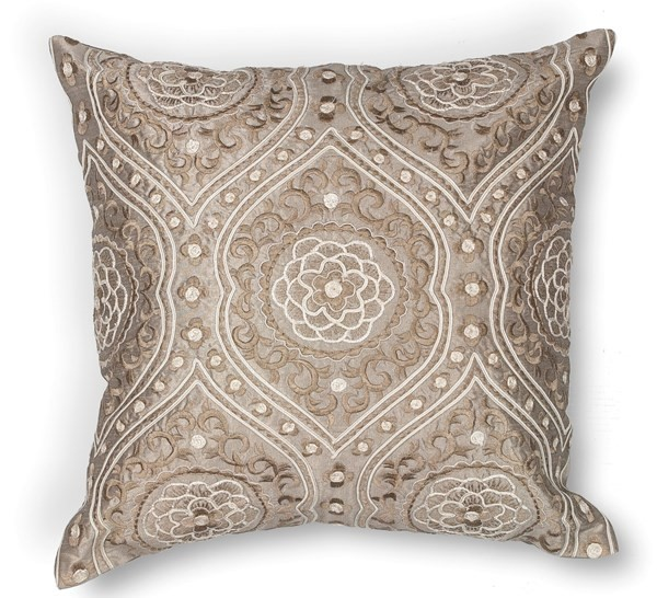 Silver (L-183) Traditional / Oriental pillow
