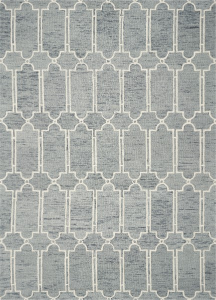 Slate Blue (1631) Contemporary / Modern Area Rug