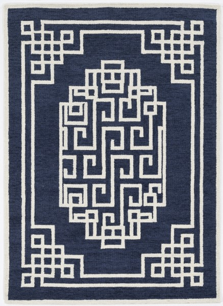Navy, Ivory (1613) Transitional Area Rug