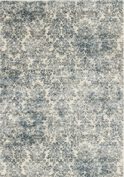 Ivory, Blue (8609) Traditional / Oriental Area Rug