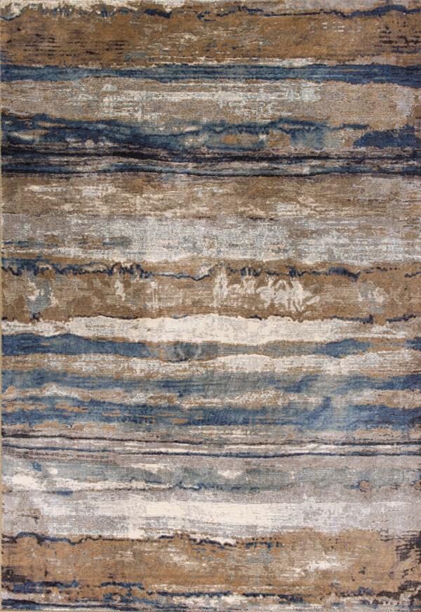 Ivory, Blue (8603) Southwestern / Lodge Area Rug