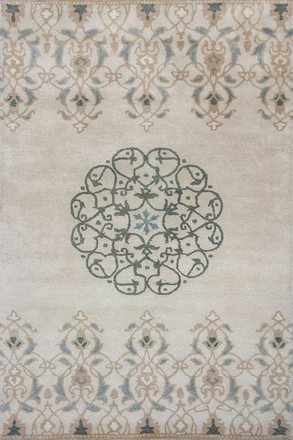 Ivory (3607) Mandala Area Rug