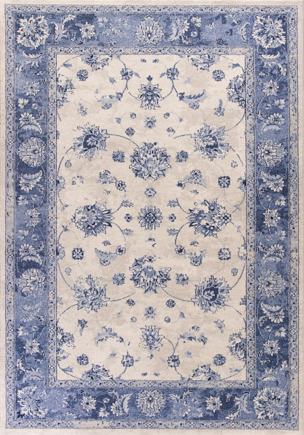 Grey, Sky Blue (1307) Traditional / Oriental Area Rug