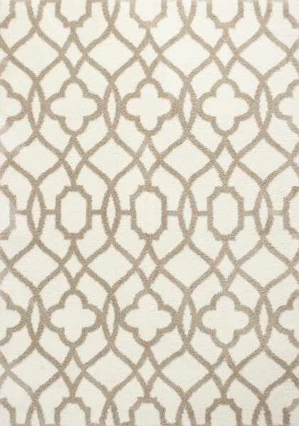 Ivory, Beige (1652) Contemporary / Modern Area Rug