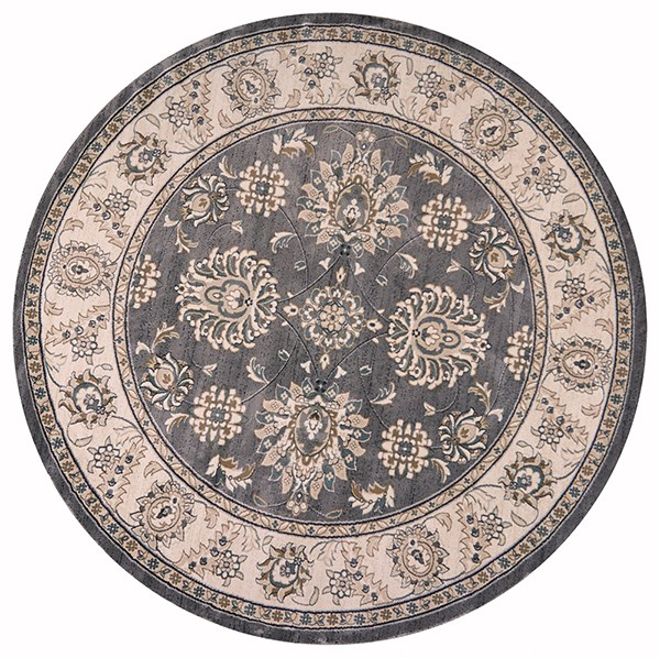 Grey, Ivory (5608) Traditional / Oriental Area Rug