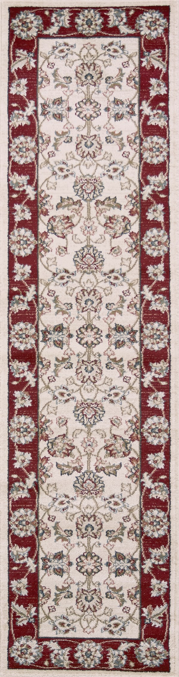 Ivory, Red (5613) Traditional / Oriental Area Rug