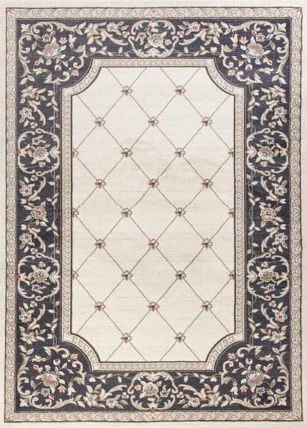 Ivory, Grey (5614) Traditional / Oriental Area Rug