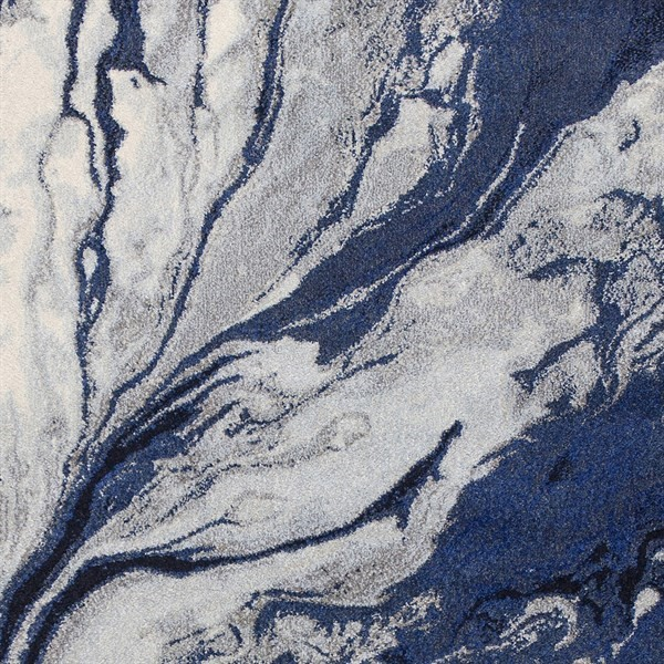 Blue (6201) Abstract Area Rug