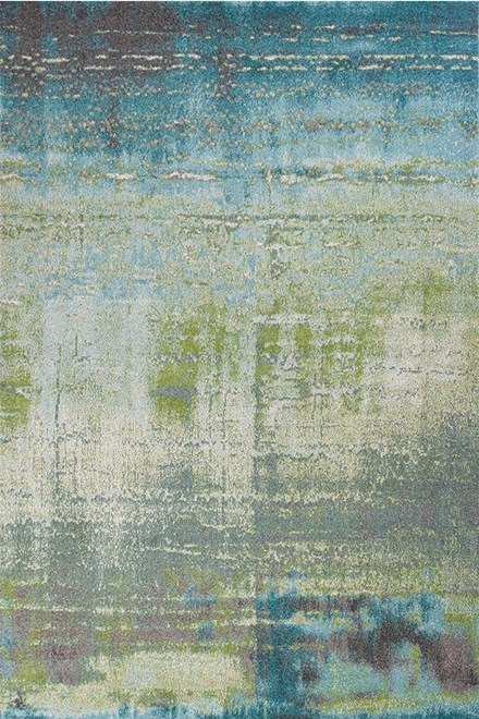 Blue, Green (6206) Abstract Area Rug