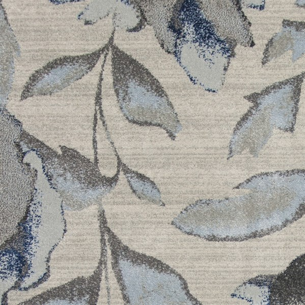 Grey, Blue (6261) Floral / Botanical Area Rug