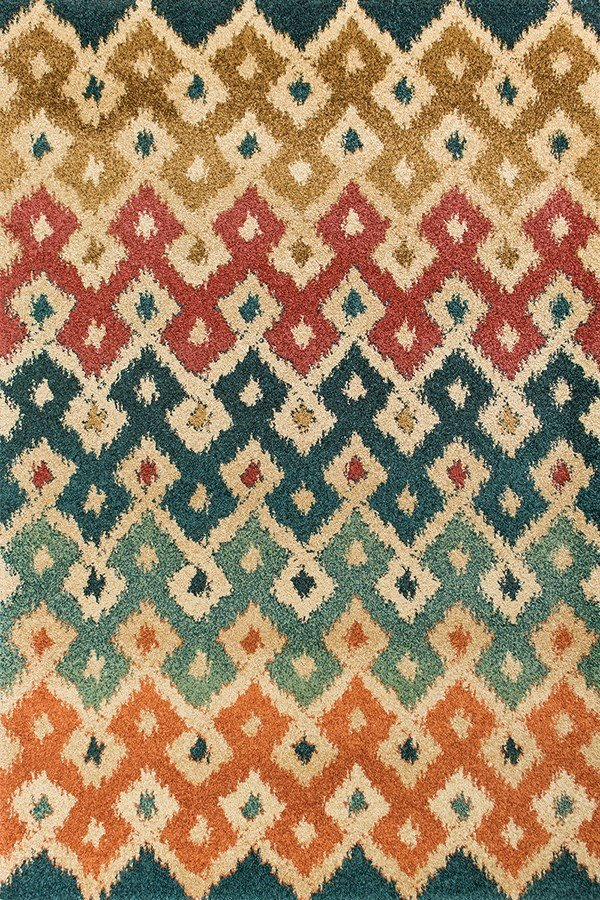 Forect Green, Tan (BAR-4472) Contemporary / Modern Area Rug