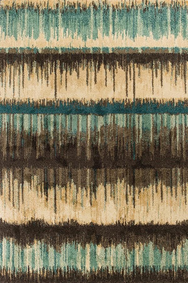 Sand, Teal (BAR-4476) Contemporary / Modern Area Rug