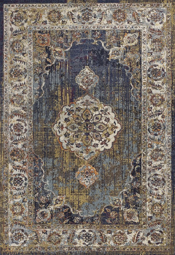 Navy (7853) Traditional / Oriental Area Rug