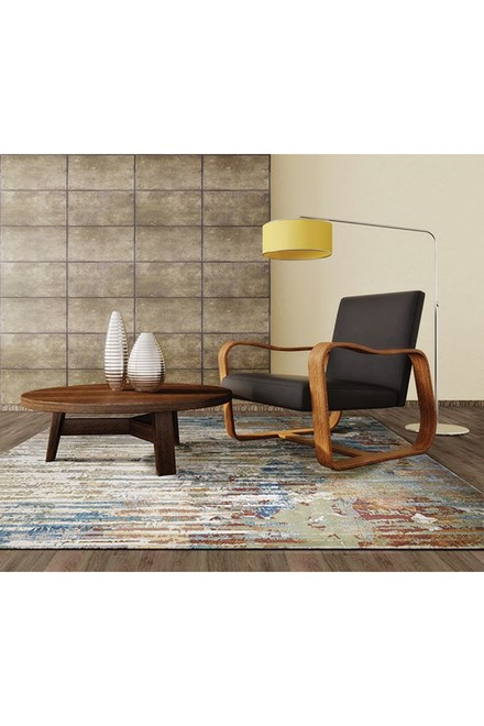 Ivory (6106) Abstract Area Rug