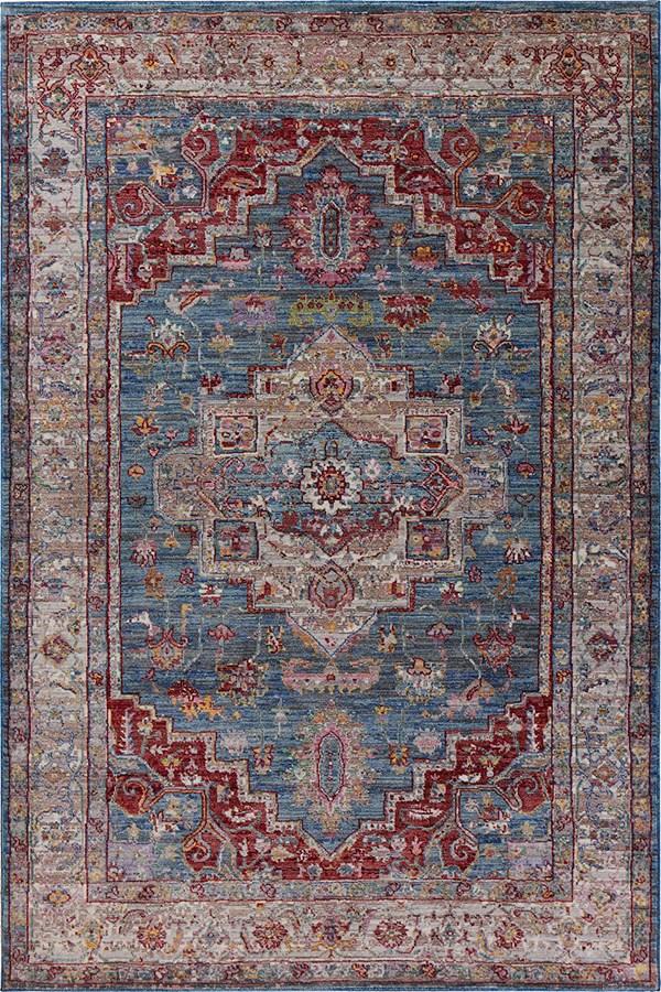 Blue, Grey (7709) Traditional / Oriental Area Rug