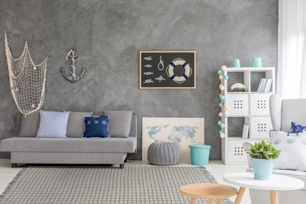 Ivory, Grey (1342) Contemporary / Modern Area Rug