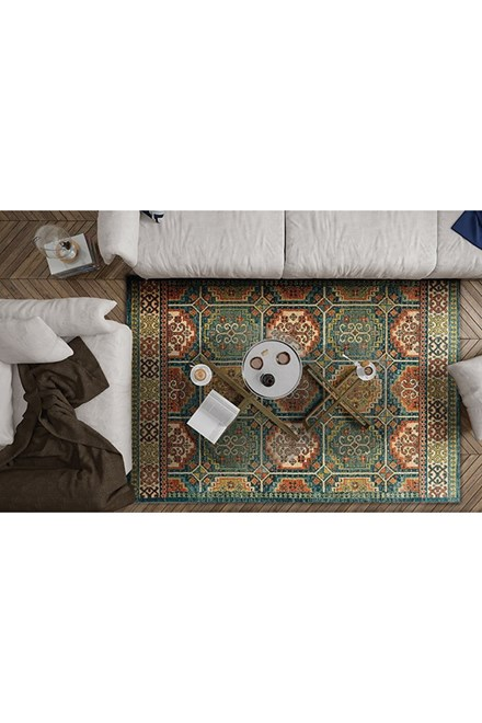 Teal, Blue (4445) Moroccan Area Rug
