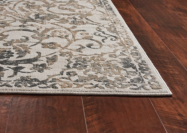 Ivory, Grey (7064) Traditional / Oriental Area Rug