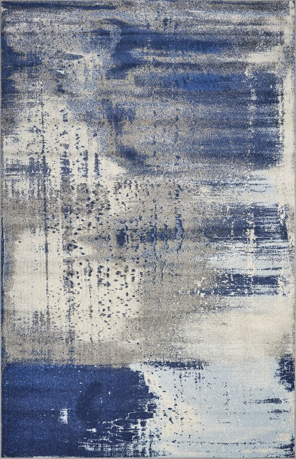 Ice Blue (6230) Abstract Area Rug