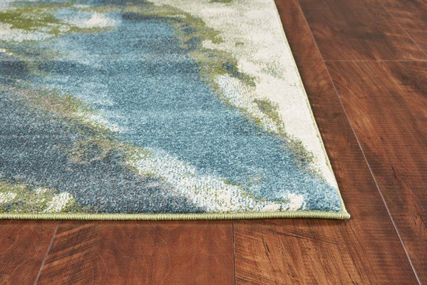 Teal (6234) Abstract Area Rug