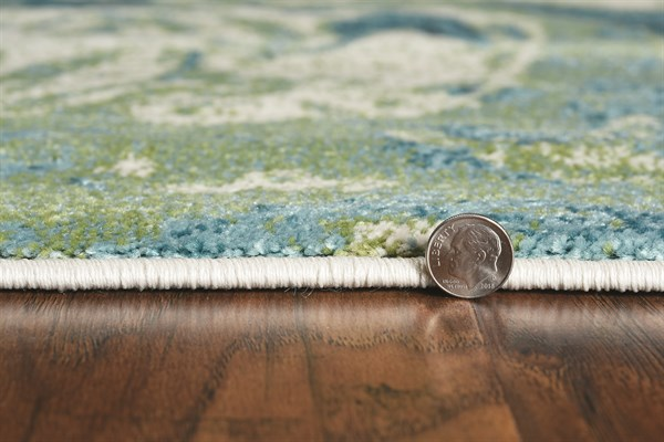 Teal (6238) Abstract Area Rug
