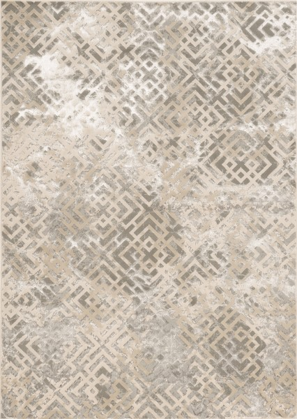 Beige, Silver (7124) Contemporary / Modern Area Rug