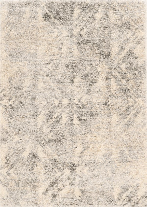 Ivory, Grey (6703) Shag Area Rug
