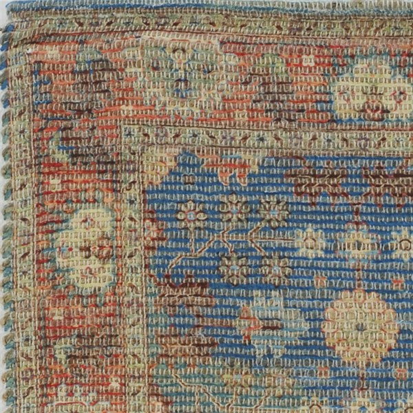 Blue, Red (2227) Traditional / Oriental Area Rug