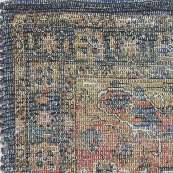 Blue, Tan, Red (2228) Traditional / Oriental Area Rug