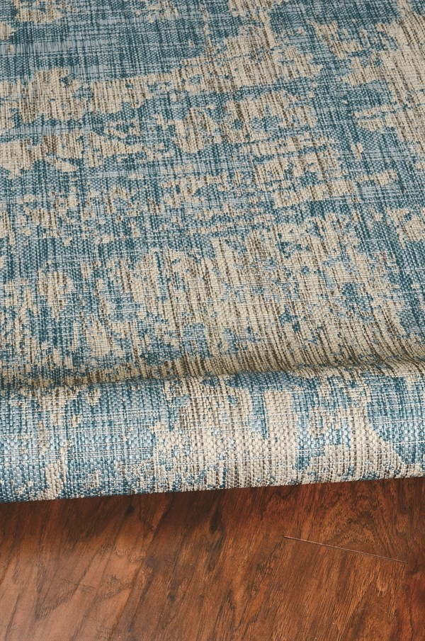 Teal (5759) Outdoor / Indoor Area Rug