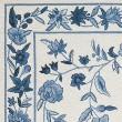 Product Image of Ivory, Blue (1727) Floral / Botanical Area Rug