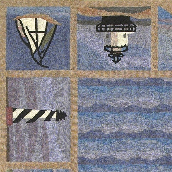 Blue (1802) Beach / Nautical Area Rug