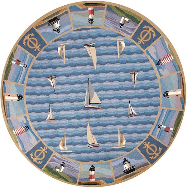 Blue (1335) Beach / Nautical Area Rug