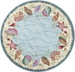 Product Image of Blue, Ivory (1804) Beach / Nautical Area Rug