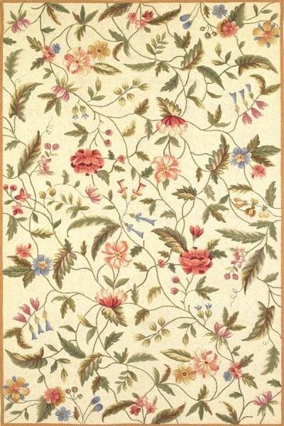Ivory (1783) Floral / Botanical Area Rug