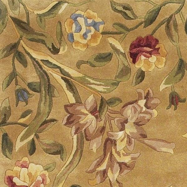 Gold (9080) Floral / Botanical Area Rug