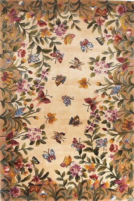 Antique Beige (9019) Floral / Botanical Area Rug