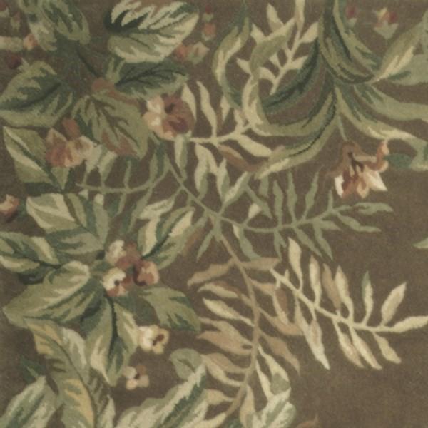 Taupe (9000) Floral / Botanical Area Rug