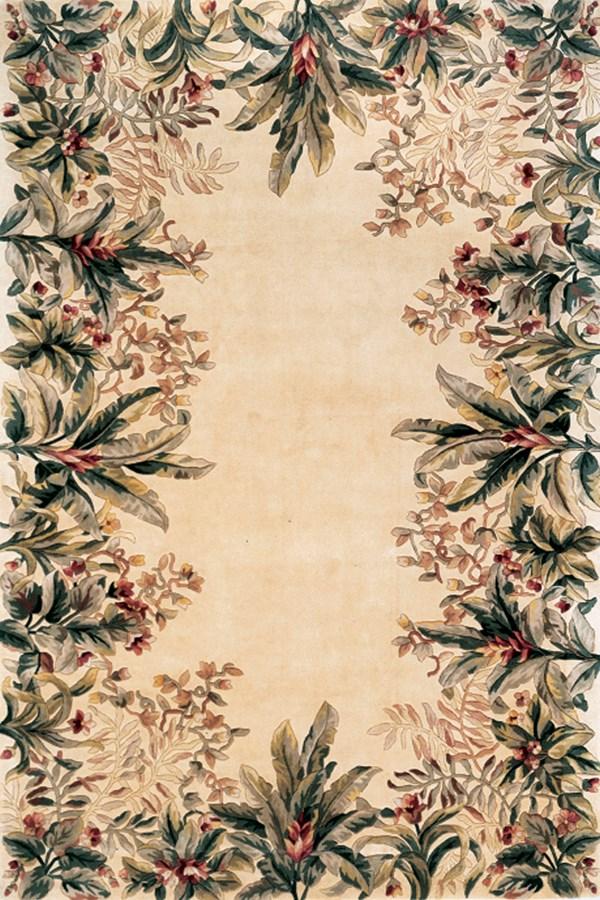 Ivory (9022) Floral / Botanical Area Rug