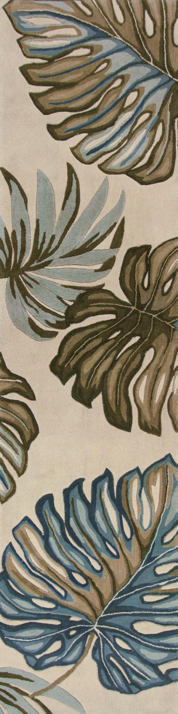 Ivory (3182) Floral / Botanical Area Rug