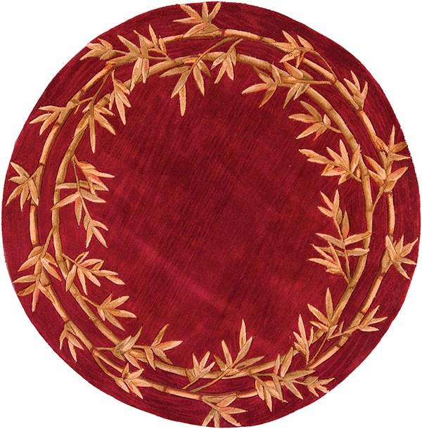 Red (3145) Floral / Botanical Area Rug