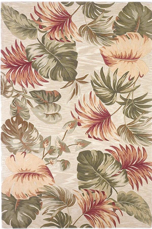 Beige (3148) Floral / Botanical Area Rug