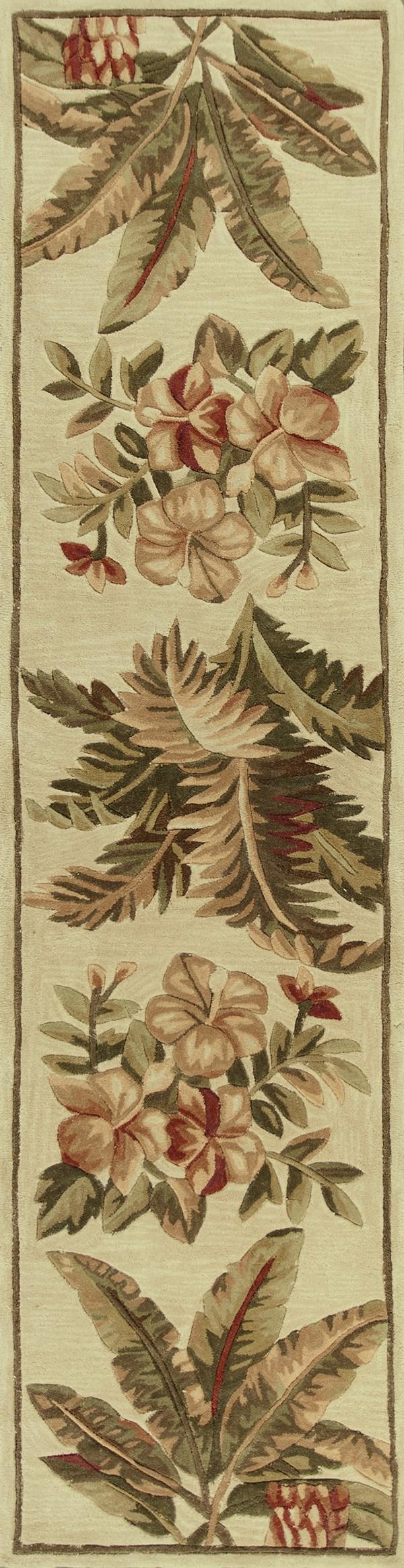Ivory (3133) Floral / Botanical Area Rug