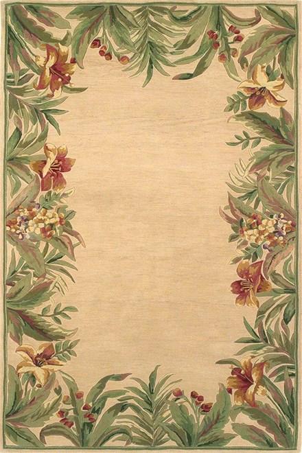 Ivory (3151) Floral / Botanical Area Rug