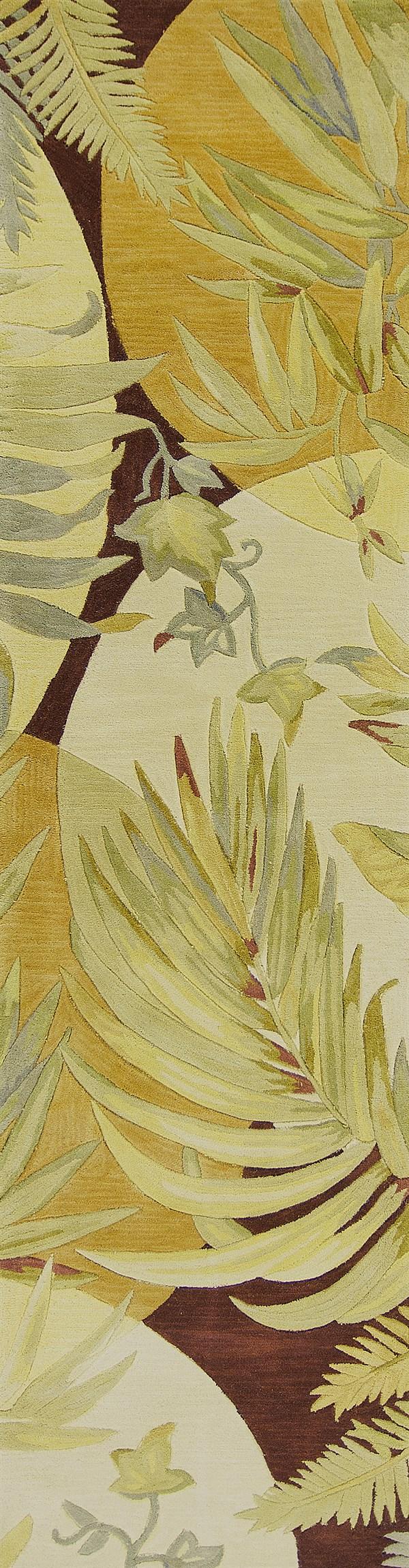 Coral, Ivory (3113) Floral / Botanical Area Rug