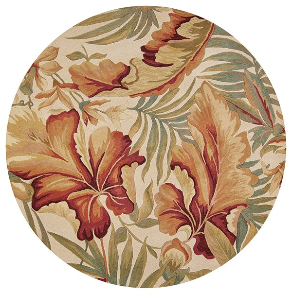 Ivory (3130) Floral / Botanical Area Rug
