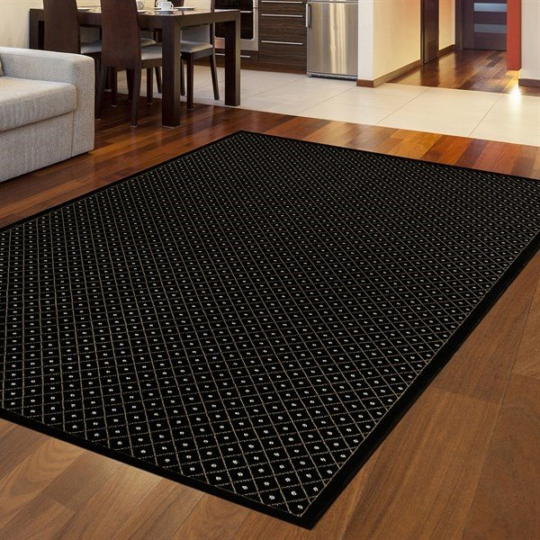 Black Solid Area Rug