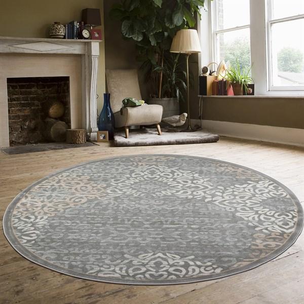 Grey Mandala Area Rug
