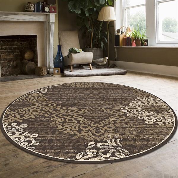 Brown Mandala Area Rug