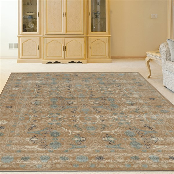 Beige Traditional / Oriental Area Rug